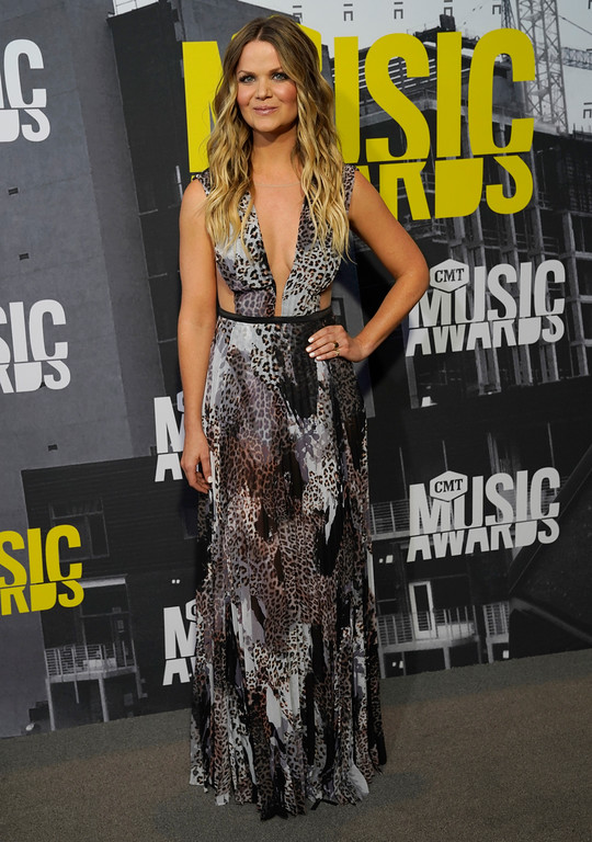 . Amy Brown arrives at the CMT Music Awards at Music City Center on Wednesday, June 7, 2017, in Nashville, Tenn. (Photo by Sanford Myers/Invision/AP)