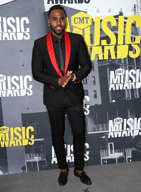 . Jason Derulo arrives at the CMT Music Awards at Music City Center on Wednesday, June 7, 2017, in Nashville, Tenn. (Photo by Sanford Myers/Invision/AP)