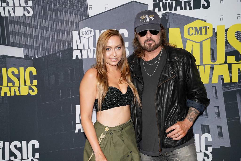 . Brandi, left, and Billy Ray Cyrus arrive at the CMT Music Awards at Music City Center on Wednesday, June 7, 2017, in Nashville, Tenn. (Photo by Sanford Myers/Invision/AP)