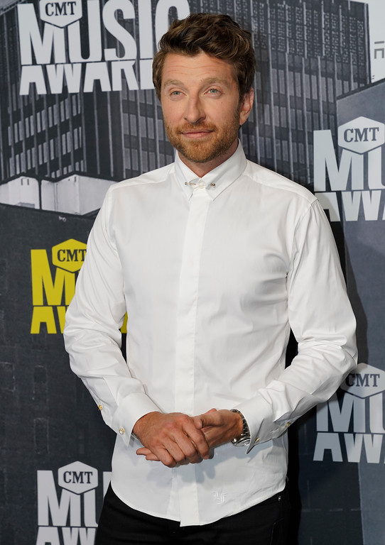 . Brett Eldredge arrives at the CMT Music Awards at Music City Center on Wednesday, June 7, 2017, in Nashville, Tenn. (Photo by Sanford Myers/Invision/AP)