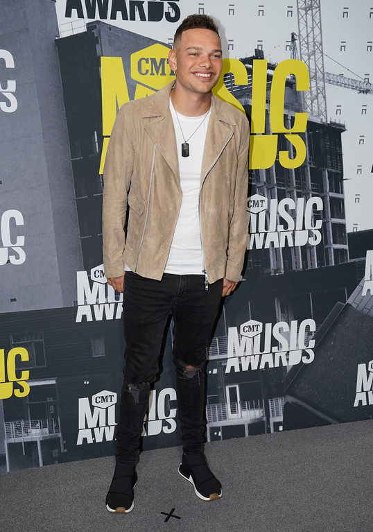 . Kane Brown arrives at the CMT Music Awards at Music City Center on Wednesday, June 7, 2017, in Nashville, Tenn. (Photo by Sanford Myers/Invision/AP)