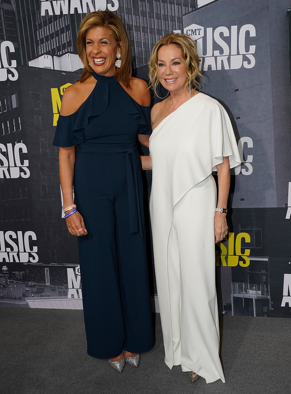 . Hoda Kotb, left, and Kathie Lee Gifford arrive at the CMT Music Awards at Music City Center on Wednesday, June 7, 2017, in Nashville, Tenn. (Photo by Sanford Myers/Invision/AP)