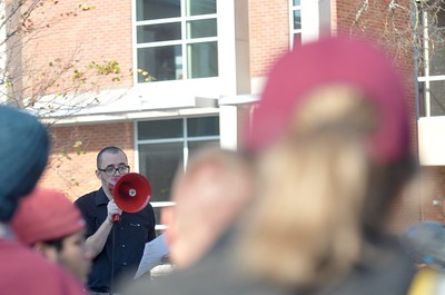 Lisa Yanick-Jonaitis - Morning Sun   Central Michigan Action protest at Central Michigan University on Tuesday, Nov. 15, 2016.