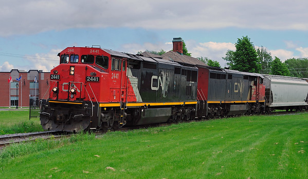 Canadian National #323, St-Jean, Quebec, June 3 2013.