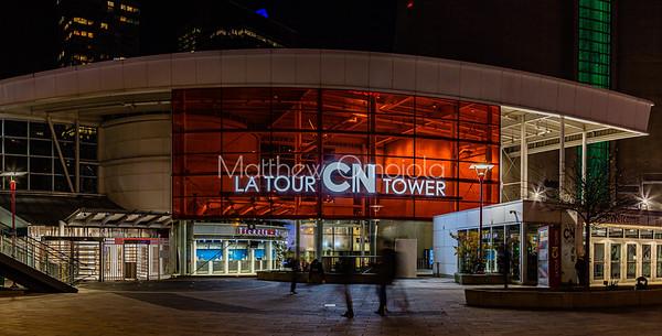 Base CN tower at night