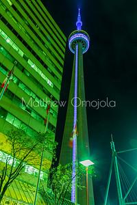 CN Tower Toronto at night