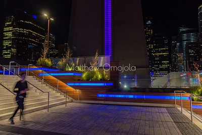 The stairs at CN tower Toronto Canada
