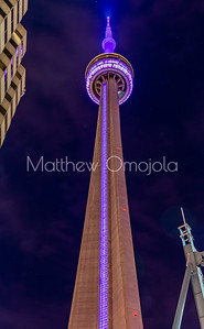 CN Tower Toronto Canada at night