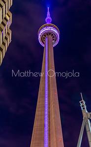 CN Tower Toronto Canada at night