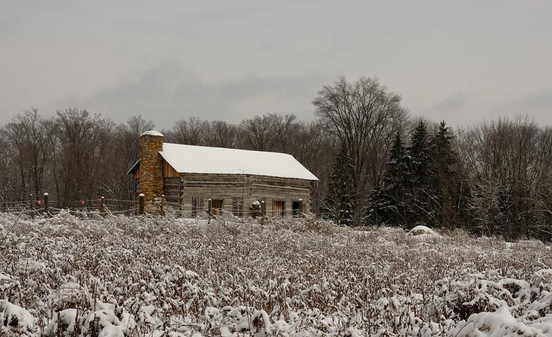Abner Hollow Cabin Winter Snow