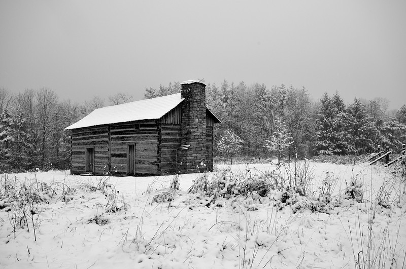 First Snow Abner's Cabin