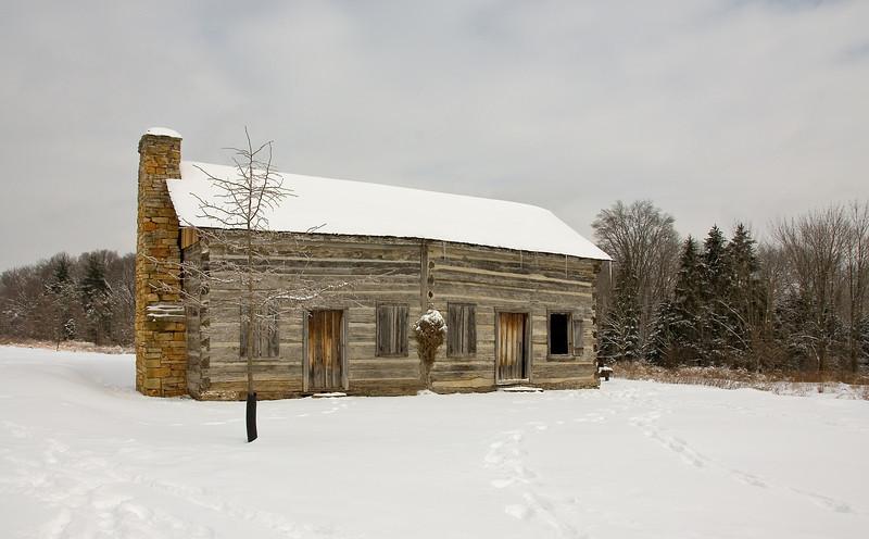 Snowy Abner Cabin