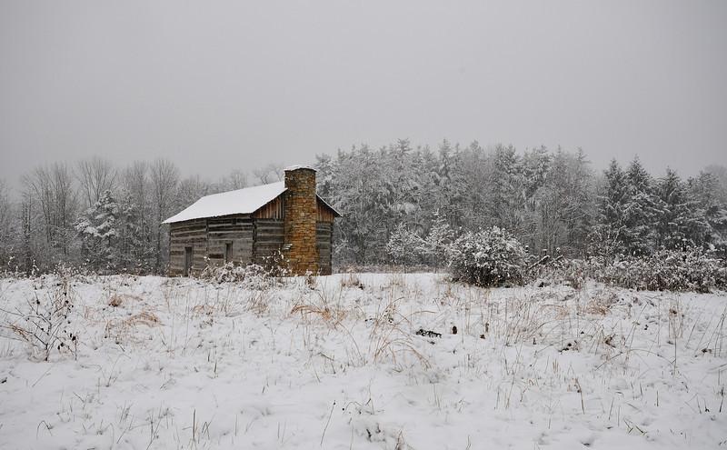 Cabin First Snow Cincinnati Nature Cener