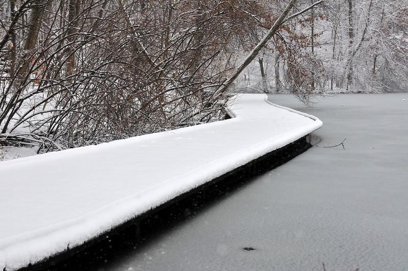 Boardwalk In a Blizzard