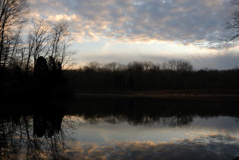 Pre-Dawn Powel Crosley Lake Winter | Cincinnati Nature Center at Rowe Woods