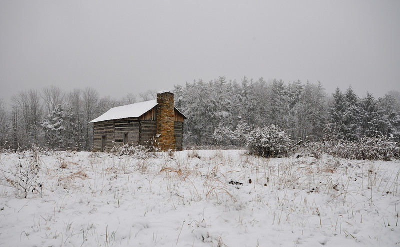 Cabin First Snow Cincinnati Nature Cener
