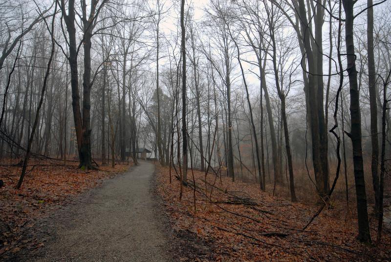 Path to the East Powel Crosley Lake Shelter