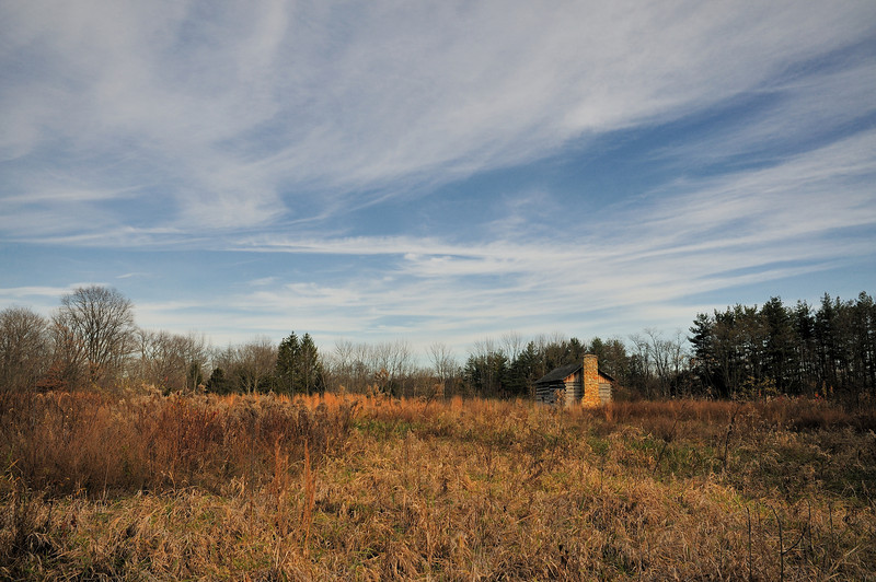 Abner Hollow Cabin in the prairie