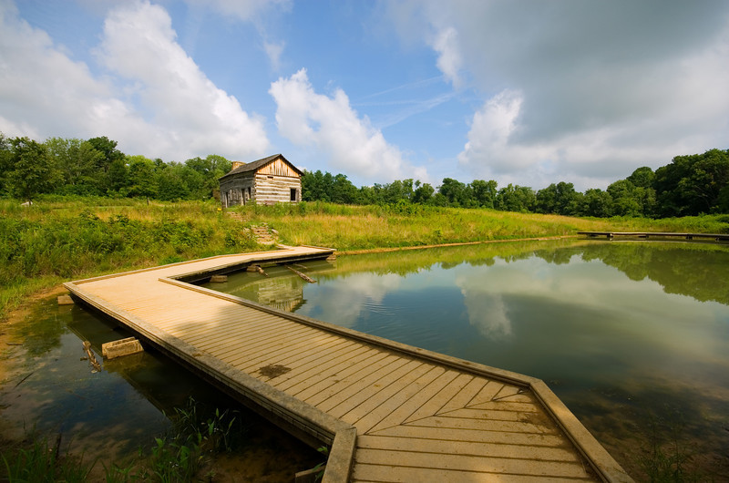 Path to Abner's - Matts Pond Rowe Woods Cincinnati Nature Center.