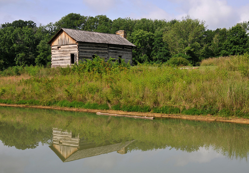 Reflections of Abner Hollow Cabin Matts Pond