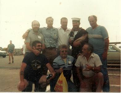 Rear: Andre Desrochers, Stan Stephenson, Tony Dubois, Sam Semple, Russ Connelly Front: Fred Watts, Al Blanchard, Leo Goneau