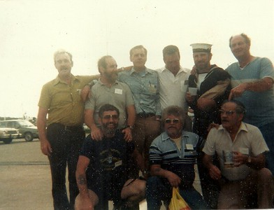 Rear: Bill Mallott, Andre Desrochers, Stan Stephenson, Tony Dubois, Sam Semple, Russ Connelly Front: Fred Watts, Al Blanchard, Leo Goneau
