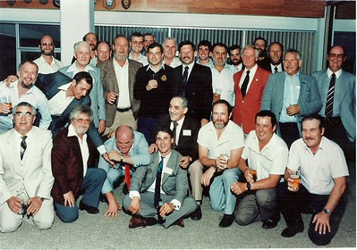 1982 Reunion CFB ShearwaterTop Row L to R: ?,?,Russ Connelly,?, Dan MacLeod,?, ?, Norm Herd, ?Centre Row L to R: Wayne Catchpaugh, Stan Stephenson, Bill Lawrence, Doug Hughes, Rick Bowers, Wally Green, Rueben Newman, Alan Sagar, Charlie Doyle, Bruce DownieFront Row L to R: ?, Al Blancher, Yvon Gingras, ?, Leo Goneau, Andre Desrocher, Tony Dubois, Bill Mallot