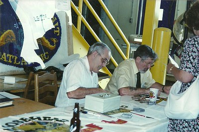 10 sep 94: Leo Goneau and George at Registering Table