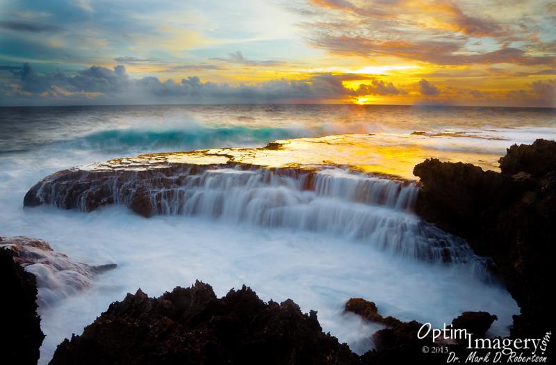 SUNRISE AT PUNTAN LAGGUA (PARROTFISH POINT):  Saipan, CNMI