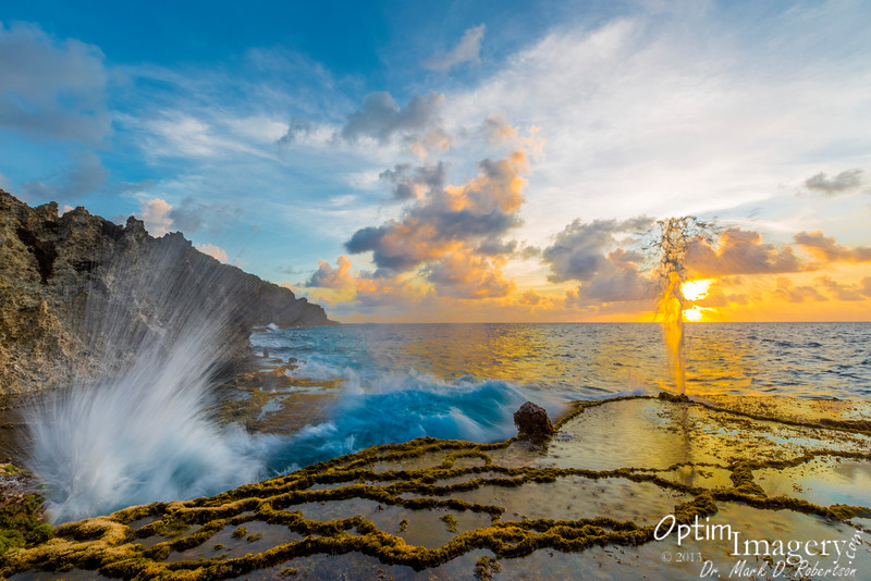 SPLASHES OF SUNSET AT VALLEY OF DRAGONS (El Toro), Saipan