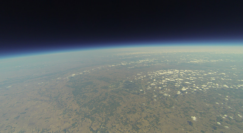Looking northeast, Lincoln, NE just below center. Fairbury, NE at bottom.