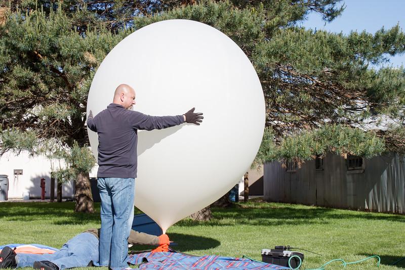NSTAR balloon being filled