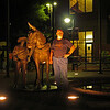 006 Doug at the C&O mule and boy statue in Cumberland, MD