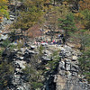 14 People up on the Maryland Heights cliffs