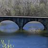 B&O closed-spandrel arch bridge over Cacapon River