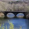 Stone B&O Railroad bridge across the mouth of Cacapon River