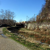 CSX train crosses old C&O Canal at Harpers Ferry