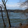 River level high from melting snow in western counties