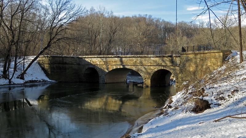 C&O Canal Catoctin Aqueduct Jan 2014 winter scene