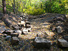 23 9  Recovered Catoctin Aqueduct stones stored in canal bed