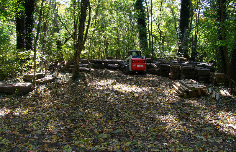 23 8  Recovered Catoctin Aqueduct stones for the upcoming rebuild  project
