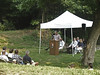 President , Dr. George Lewis, Catoctin Aqueduct Restoration Fund, spoke at the interpretive wayside dedication ceremony on August 13, 2005.