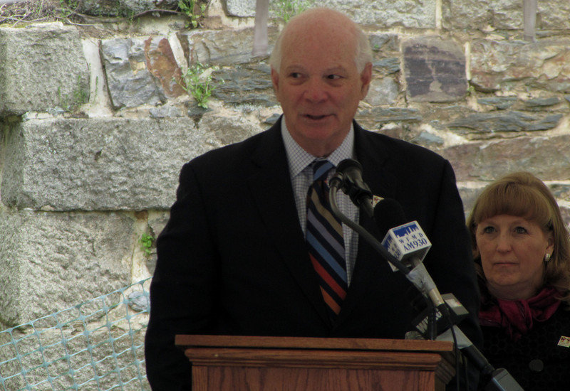 United States Senator Benjamin Cardin told the audience gathered just off the Park towpath on west bank of Catoctin Creek that this is more than just the rebuilding of an historic structure. 'For every dollar invested in our national parks, we get back $4.00 in economic growth,' said Cardin. 'So this project is going to return over $16-million to our economy,' based on the amount of ARRA money as well as that from visitors to the Park.