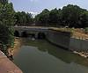 6/20/2011__Restored Catoctin Creek Aqueduct as viewed from B&O Railroad's Catoctin Creek Vidaduct just upstream.