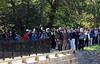 Mule leads participants across the Catoctin Aqueduct