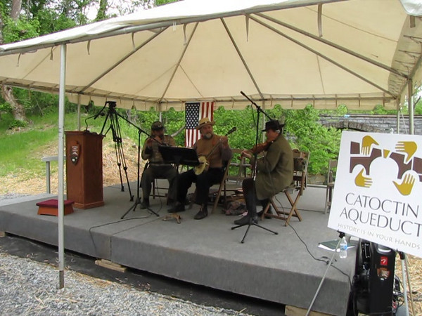 VIDEO_____Gilmore's Light Ensemble performed at the Catoctin Aqueduct Groundbreaking Ceremony April 24, 2010. The Gilmore's Light Ensemble played and sang traditional 19th Century music wearing clothing of the mid-1800's.