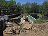 4/30/2011   View from eastern end of the ongoing Catoctin Creek Aqueduct reconstruction.