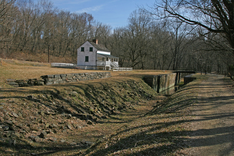 2/15/2009   C&O Canal Lift Lock #29 (Lander) located .6 miles downstream from the Catoctin Creek Aqueduct at C&O Canal mile 50.9. The last locktender lived here until 1962, 38 years after the Canal went out of business.