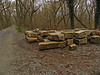 4/06/2008   Hundreds of recovered original cut granite stones stored next to the C&O Canal Towpath many of which will be reused to rebuild the aqueduct.