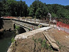 7/01/2011  Taking the old Bailey Bridge apart to open rebuilt Catoctian Creek Aqueduct on C&O Canal.